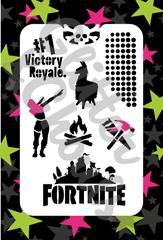 Glitter & Ghouls Stencils FORTNITE DELUXE SET<br />9 x 14cm - Looney Bin Products