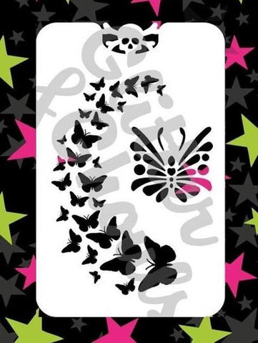 Glitter & Ghouls Stencils BUTTERFLY SPRAY<br />9 x 14cm - Looney Bin Products