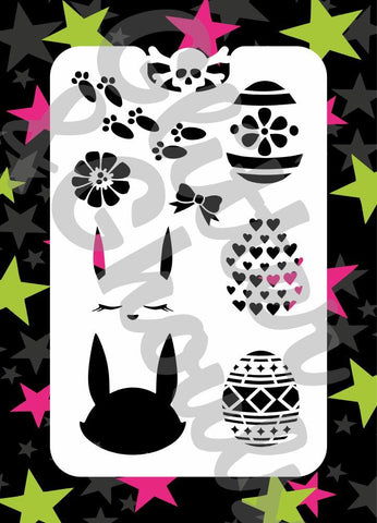 Glitter & Ghouls Stencils EASTER 9 x 14cm - Looney Bin Products