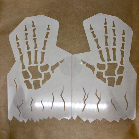 Skeleton Hands Stencil 29cm x 17cm - Looney Bin Products