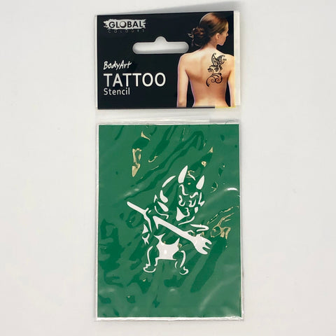 Global Tattoo Stencil TS44 Red Devil - Looney Bin Products