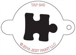 TAP Face Painting Stencil 040 Puzzle Piece - Looney Bin Products
