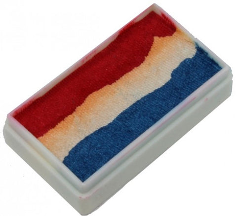 TAG One Stroke Split Cake 30g Red, White & Blue