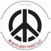 TAP Face Painting Stencil 033 Peace Sign - Looney Bin Products