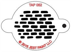 TAP Face Painting Stencil 052 Bricks - Looney Bin Products
