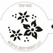 TAP Face Painting Stencil 002 Flowers - Looney Bin Products
