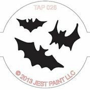 TAP Face Painting Stencil 026 Bats - Looney Bin Products