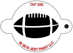 TAP Face Painting Stencil 056 Football - Looney Bin Products