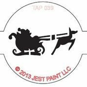 TAP Face Painting Stencil 039 Santa - Looney Bin Products