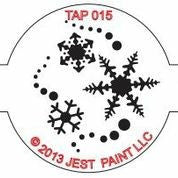 TAP Face Painting Stencil 015 Snowflakes - Looney Bin Products
