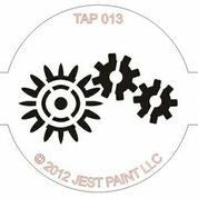 TAP Face Painting Stencil 013 Robotic - Looney Bin Products