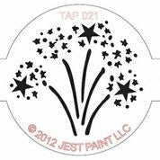 TAP Face Painting Stencil 021 Fire Works - Looney Bin Products