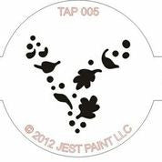 TAP Face Painting Stencil 005 Wind Dust - Looney Bin Products