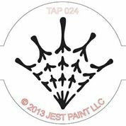 TAP Face Painting Stencil 024 Spider Web - Looney Bin Products