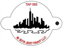 TAP Face Painting Stencil 053 City Scape - Looney Bin Products