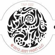TAP Face Painting Stencil 022 Swirly - Looney Bin Products