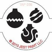 TAP Face Painting Stencil 035 Christmas Ornaments - Looney Bin Products