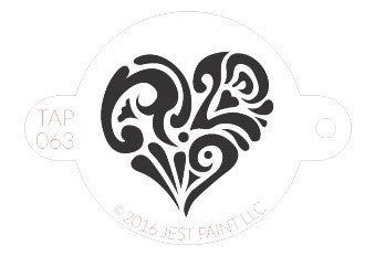 TAP Face Painting Stencil 068 Ornate Heart - Looney Bin Products