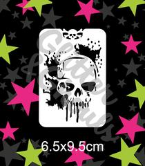 Glitter & Ghouls Stencils MELTING SKULL<br />6.5 x 9.5cm - Looney Bin Products