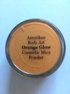 Amerikan Mica Shimmer Powder Orange Glow 30g - Looney Bin Products