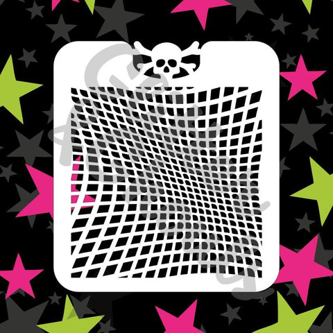 Glitter & Ghouls Stencils SPIDER NET 9.5 x10.5cm - Looney Bin Products