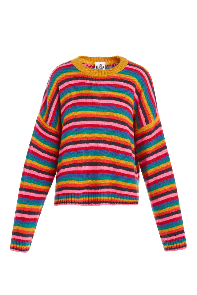 Rainbow Glow Knit Sweater