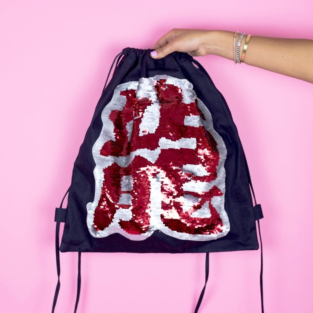 Sequins Drawstring Backpack