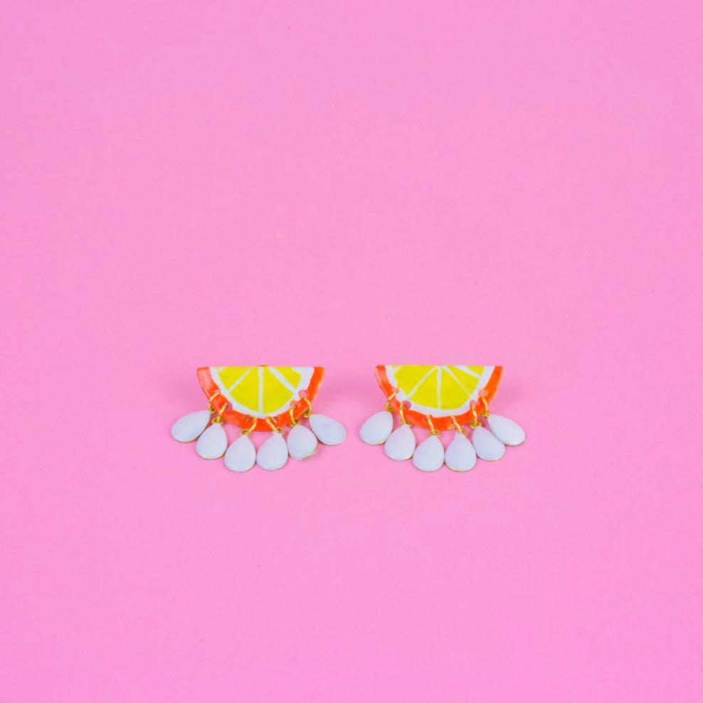 Orange Citron Earrings