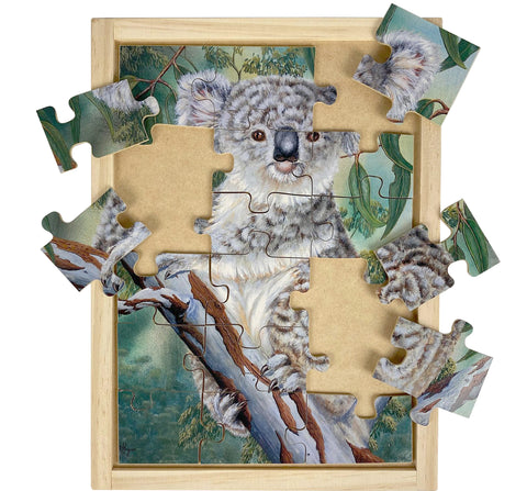 oz publishing koala wooden jigsaw puzzle