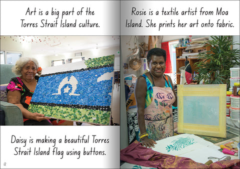 Torres Strait Islander artists from the educational big book 'Let's Learn about the Torres Strait Isalnds'