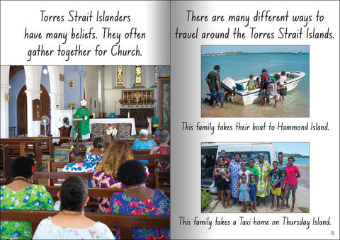 Torres Strait Islander church-goers from the educational big book 'Let's Learn about the Torres Strait Isalnds'