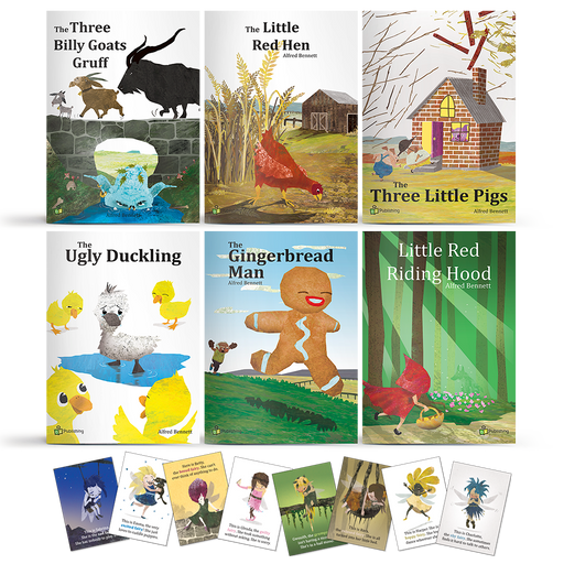 the three billy goats gruff the little red hen the three little pigs the ugly duckling the gingerbread man and little red riding hood educational big books with posters