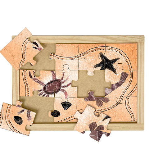 The Rock Pool Wooden Puzzle