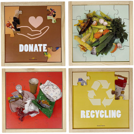Minimise Waste Awareness Puzzles Set of 4