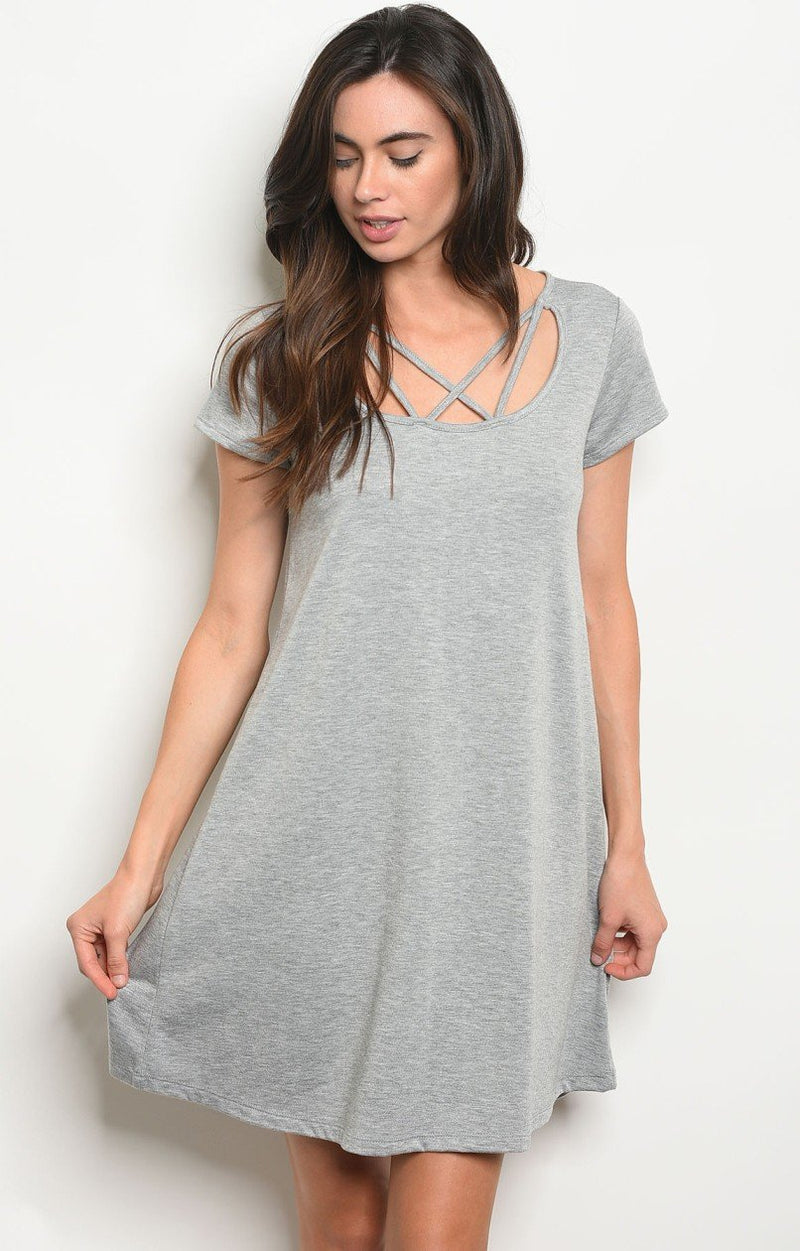 Zali T-Shirt Dress in Grey