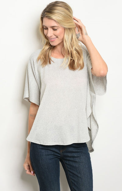 kyla Top in Light Grey