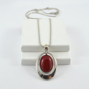 Zoe Red cats eye pendant