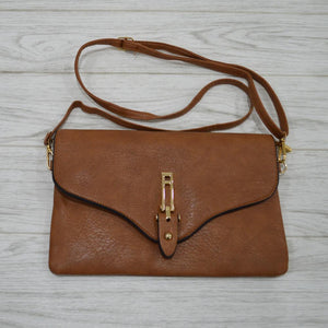 Natalia Clutch in Tan