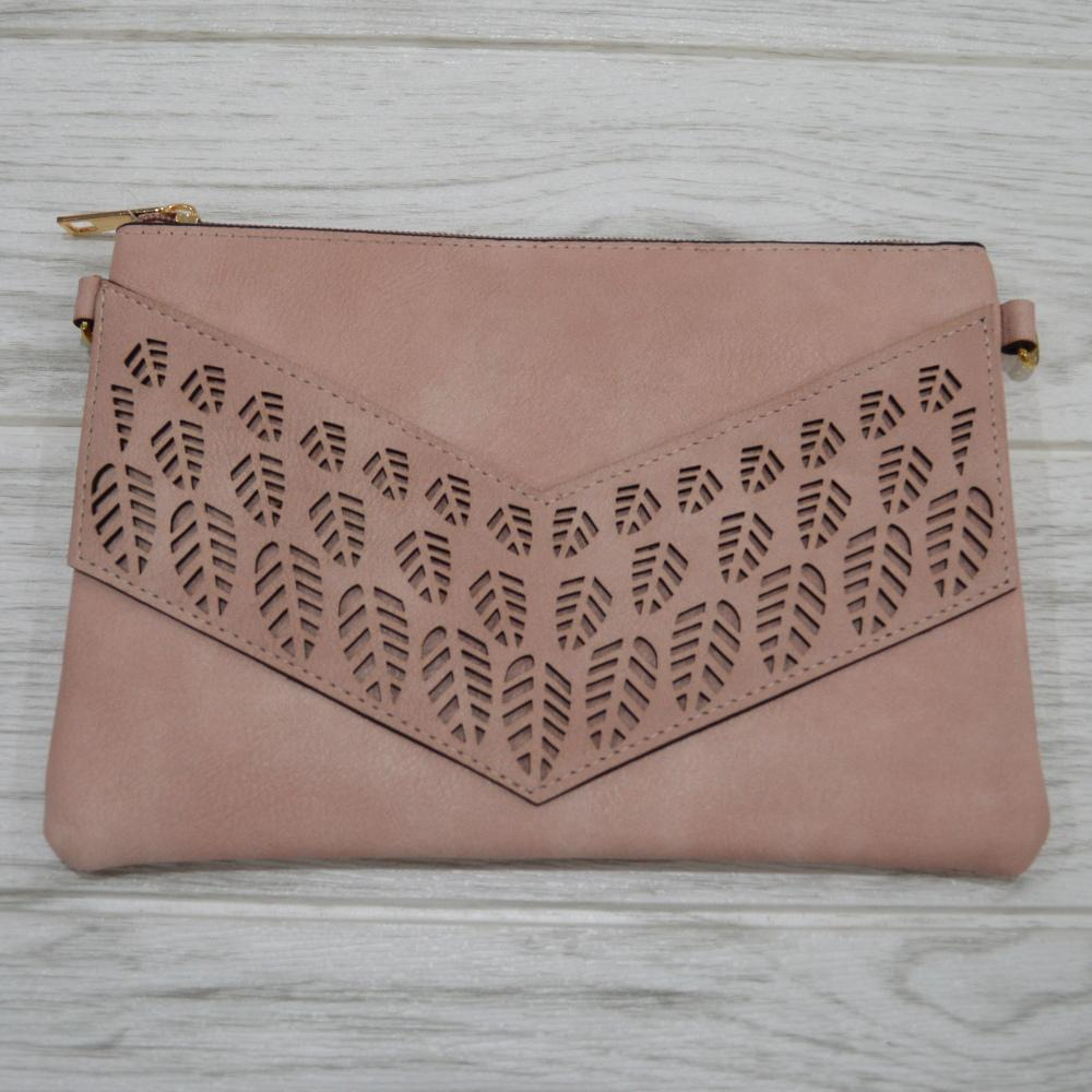 Lilly Clutch in Dusty Pink