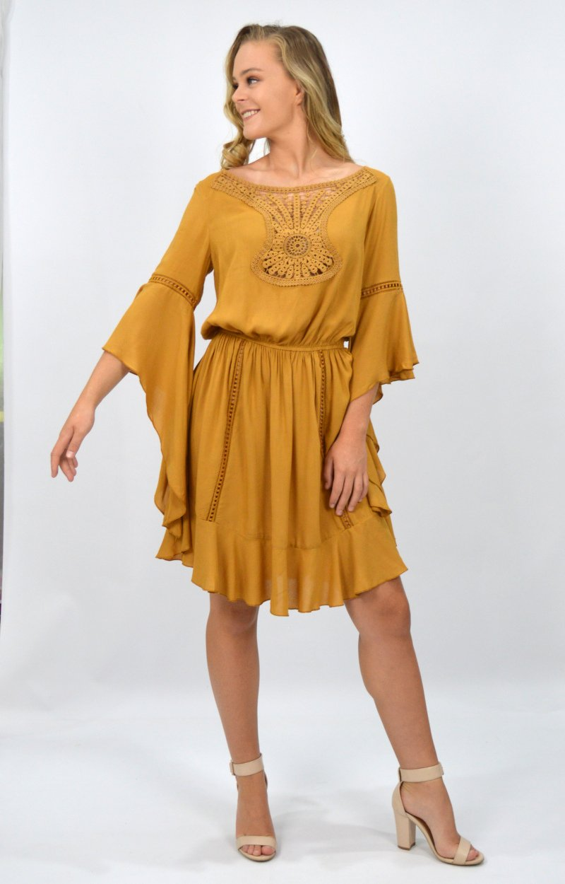 Stella Dress in Mustard