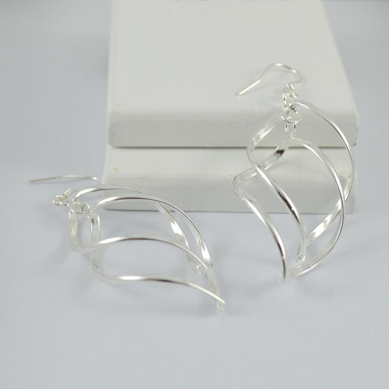 Silver Plated Twist Earrings
