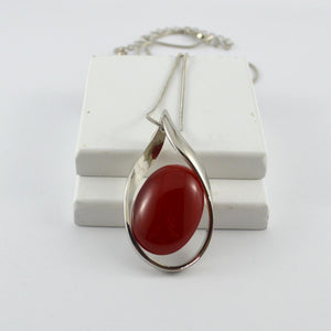 Red cats eye pendant