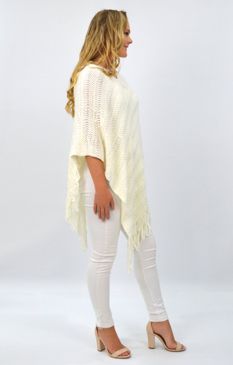Aurora Poncho in White