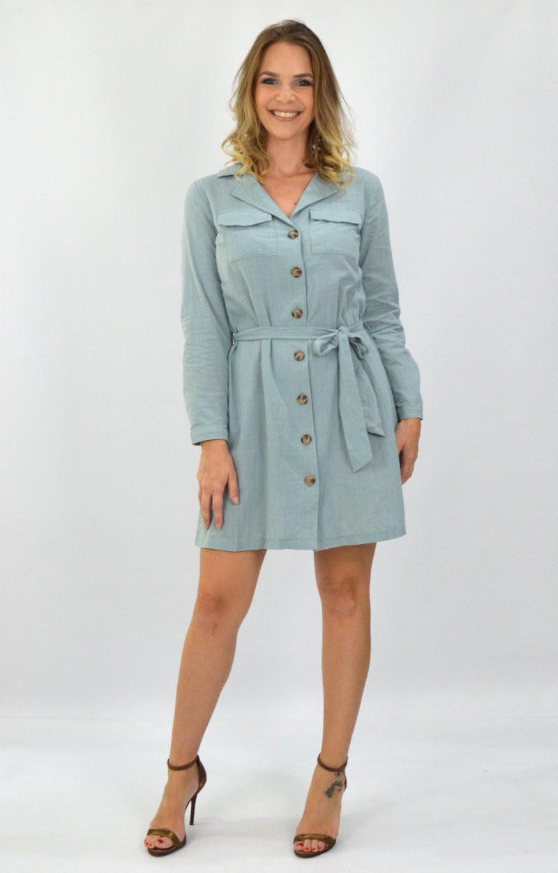 Carissa Dress in Sage