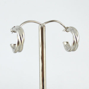 White Gold Plated Twist hoops (small)