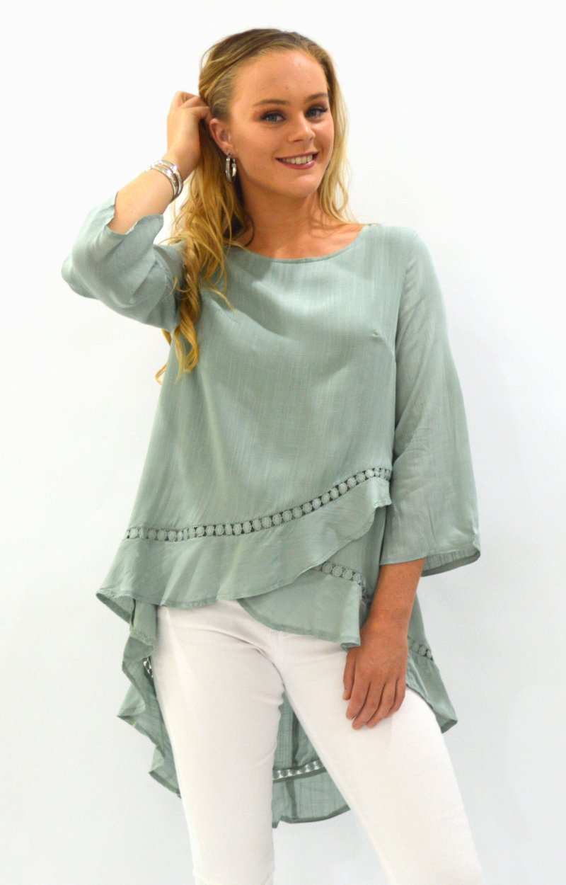 Betty Top in Sage