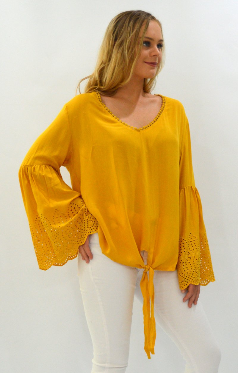Polly Top in Ochre