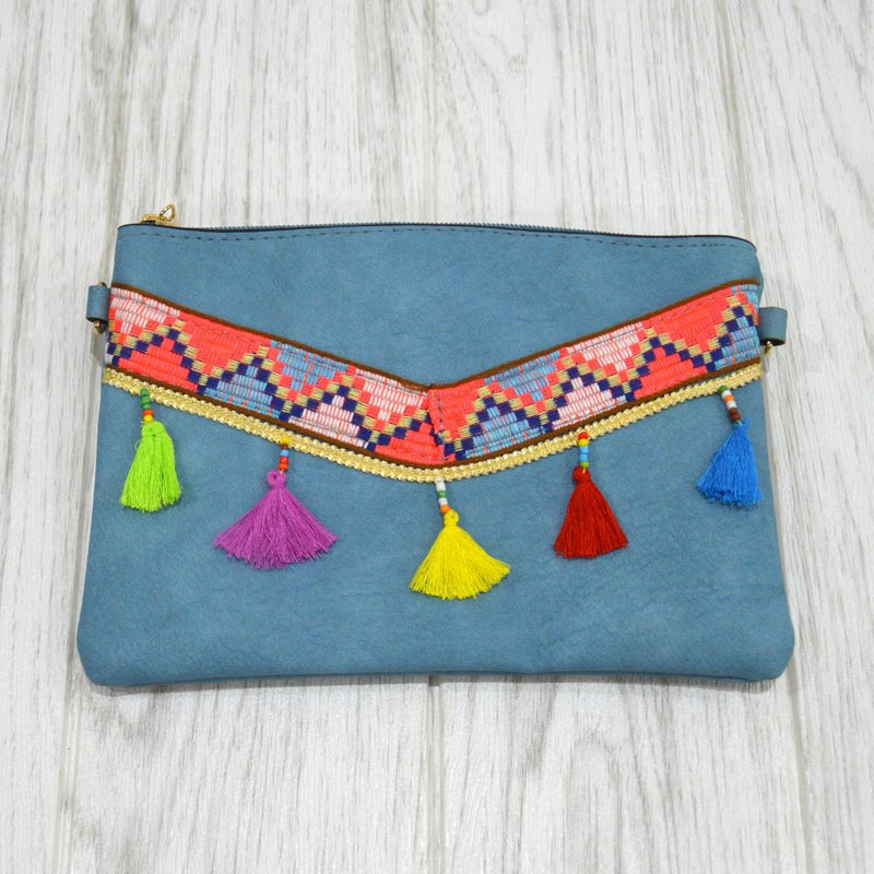 Tassel Bag in Blue