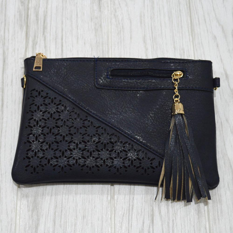 Talia Clutch in Navy