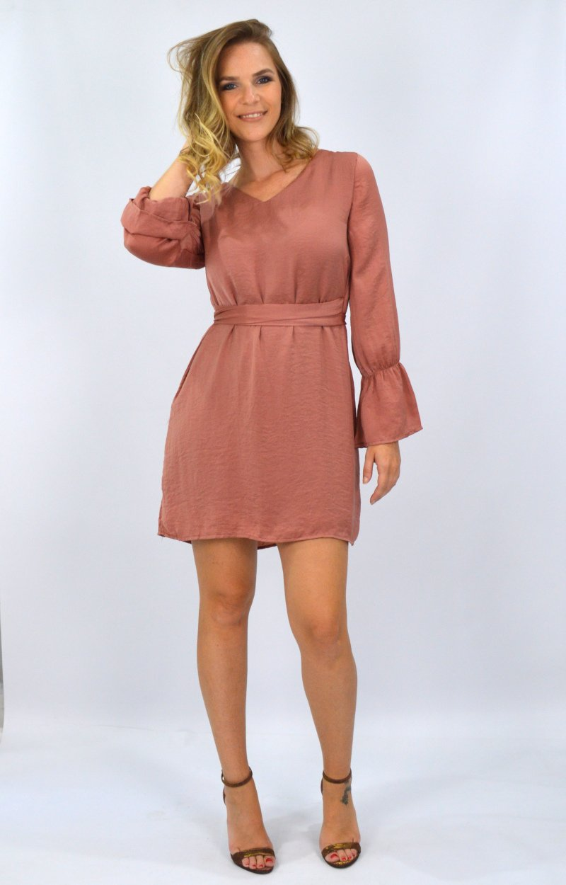 Analise Dress in Burnt Rose
